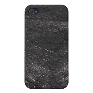 Black Leather Look Texture iPhone Speck Case Cover For iPhone 4