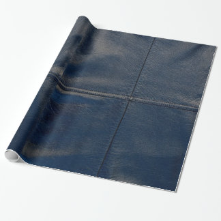 Black Leather Look Wrapping Paper