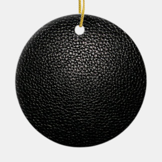 Black Leather Christmas Ornament