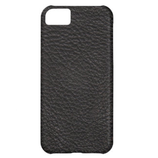 Black Leather Print Texture Pattern Cover For iPhone 5C