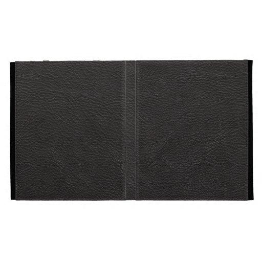 Black Leather Print Texture Pattern iPad Cases