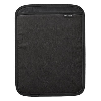 Black Leather Print Texture Pattern Sleeve For iPads