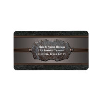 Black Leather Rugged Western Grunge Address Labels