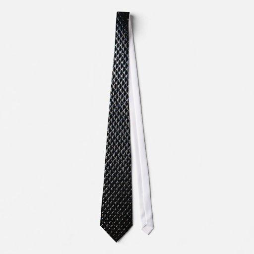Black Leather Seamless Neck Tie