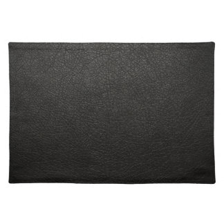 Black Leather Texture Background Cloth Placemat