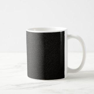 Black Leather Texture Background Coffee Mug