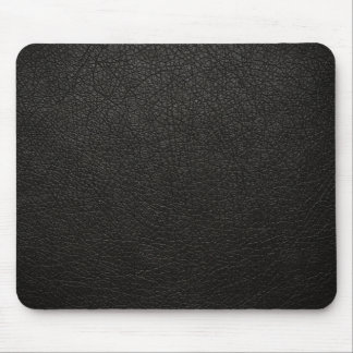 Black Leather Texture Background Mousepads