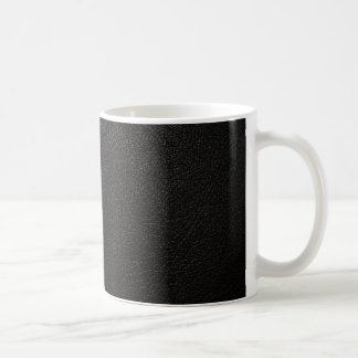 Black Leather Texture Background Coffee Mugs