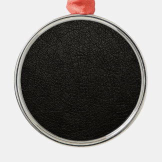 Black Leather Texture Background Christmas Ornament