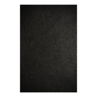 Black Leather Texture Background Stationery