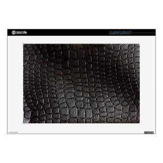 """Black Leather Texture Decal For 15"""" Laptop"""