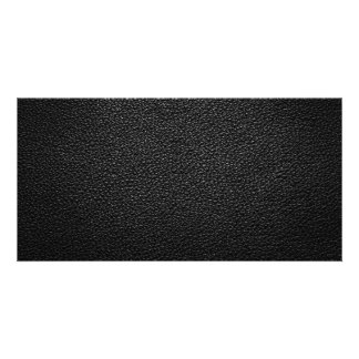 Black Leather Texture For Background Card