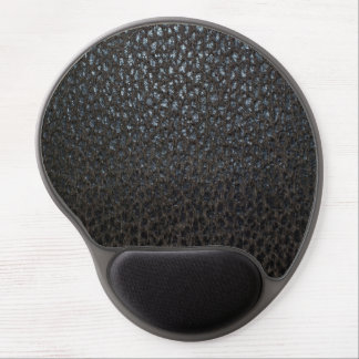Black Leather Texture Gel Mouse Pads