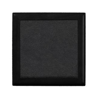 Black Leather Texture Jewelry Box