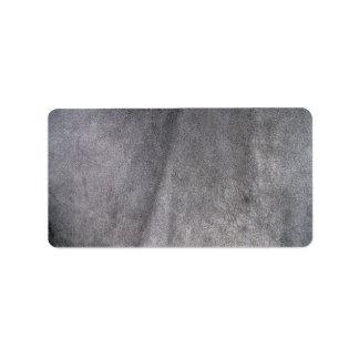 Black Leather Texture Address Label