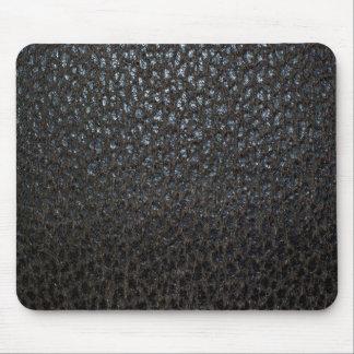 Black Leather Texture Mousepads