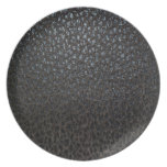 Black Leather Texture Party Plates
