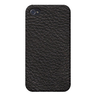 Black Leather Texture Pattern iPhone 4 Cover