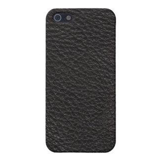 Black Leather Texture Pattern iPhone SE/5/5s Cover