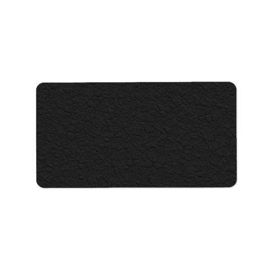 Black Leather Textured Label