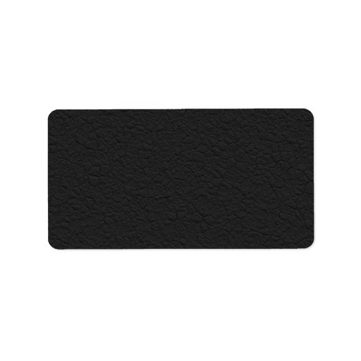 Black Leather Textured Personalized Address Label