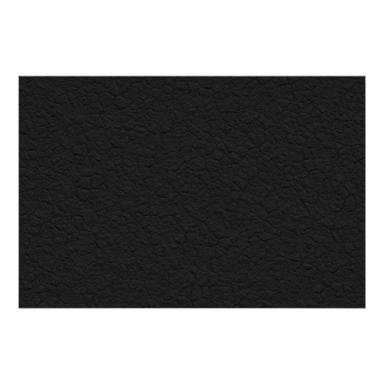 Black Leather Textured Poster