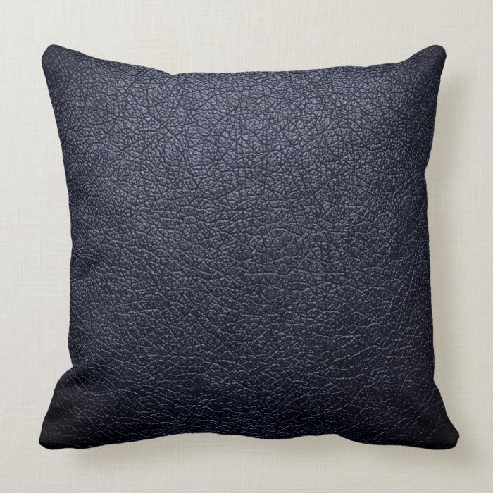 Black Leather Throw Pillow Zazzle