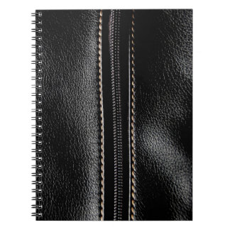 Black Leather with Zipper Notebook