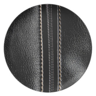 Black Leather with Zipper Plates