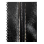 Black Leather with Zipper Spiral Note Books
