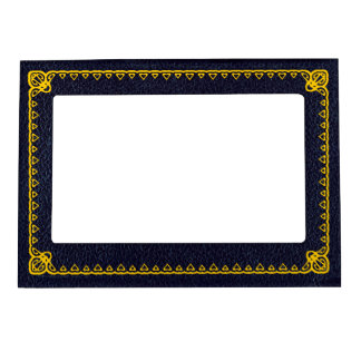 Black Leatherette ~ with gilding Magnetic Photo Frame