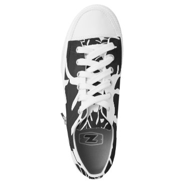 Beach Themed Black Leaves Tropical Palm Summer Tropics Chic Low-Top Sneakers