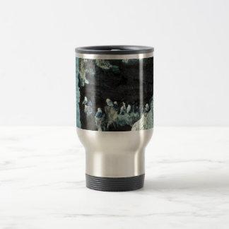 Black-legged kittiwakes and murres 15 oz stainless steel travel mug
