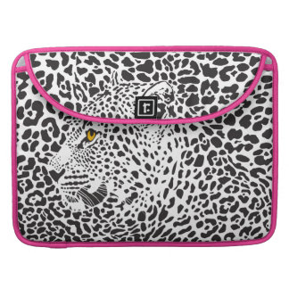 Black Leopard Camouflaged In Spots Pattern MacBook Pro Sleeve