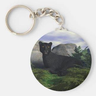 Black Leopard Keychains