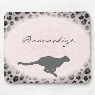 Black Leopard Mouse Pad