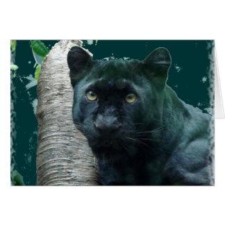 black leopard notecard