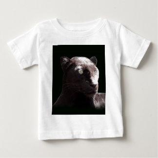 Black Leopard Portrait Baby T-Shirt