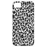 Black Leopard Print Skin Fur iPhone 5 Cases