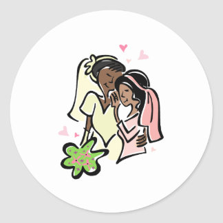 Black Lesbians Classic Round Sticker