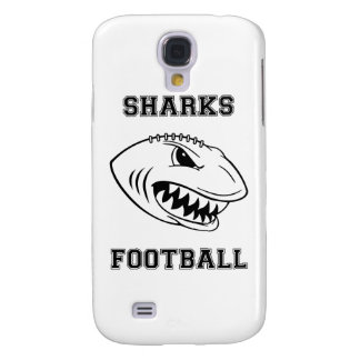 black letters sharks galaxy s4 cover