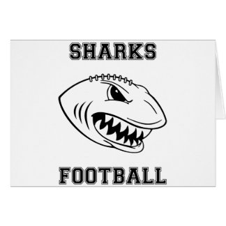 black letters sharks greeting card