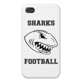 black letters sharks iPhone 4/4S cover