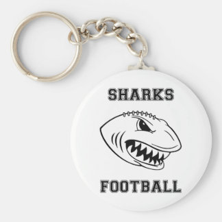 black letters sharks key chain