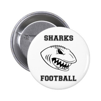black letters sharks pinback buttons