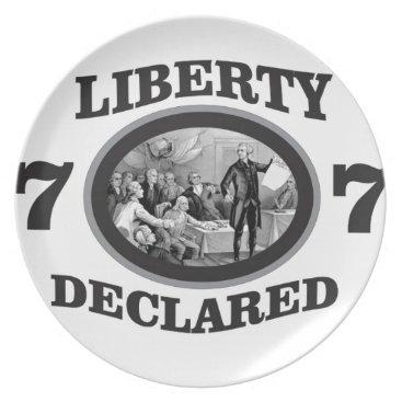 black liberty declared plate