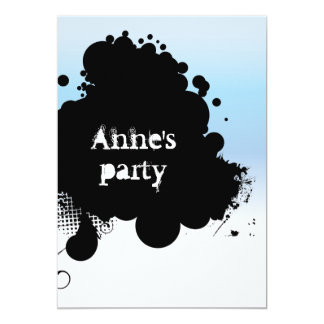 black light blue invite