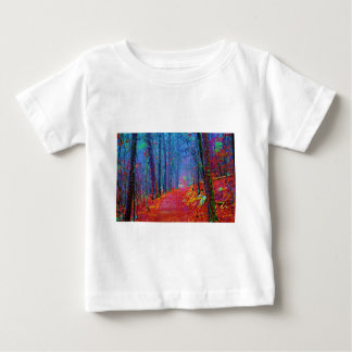 Black Light Forest Oil Painting Baby T-Shirt