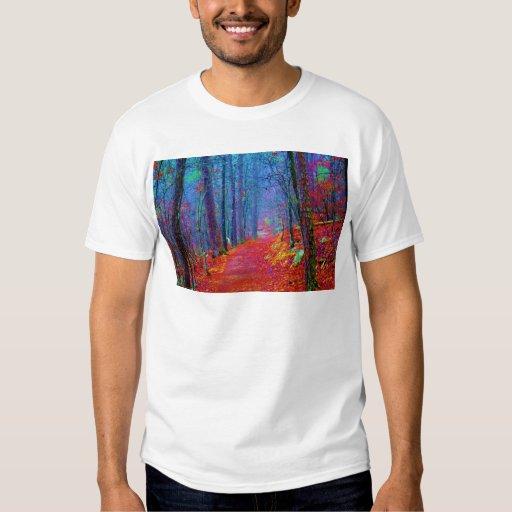 Black Light Forest Oil Painting Tee Shirt