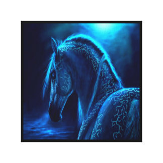 Black Light Horse Canvas